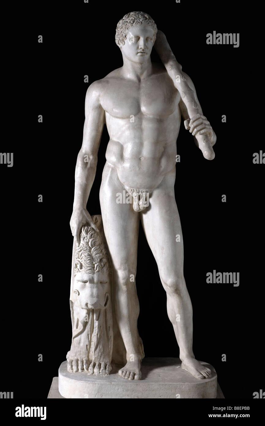 Scopas Skopas greca antica mitologia greca Eracle Eracle di Lansdowne 1 2 4 c BC figlio di Zeus Foto Stock