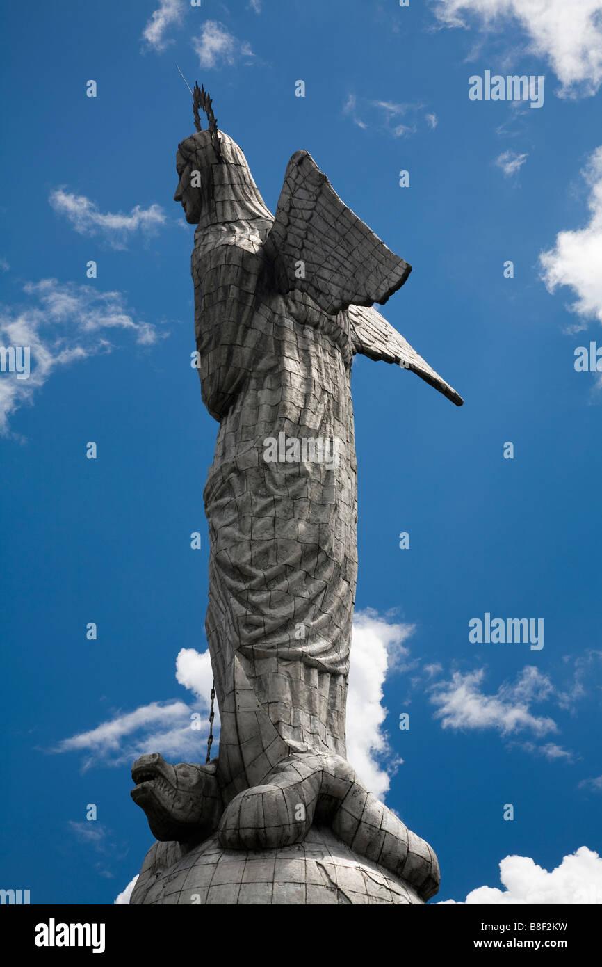 La Virgen de Quito, El Panecillo, Quito Ecuador Immagini Stock