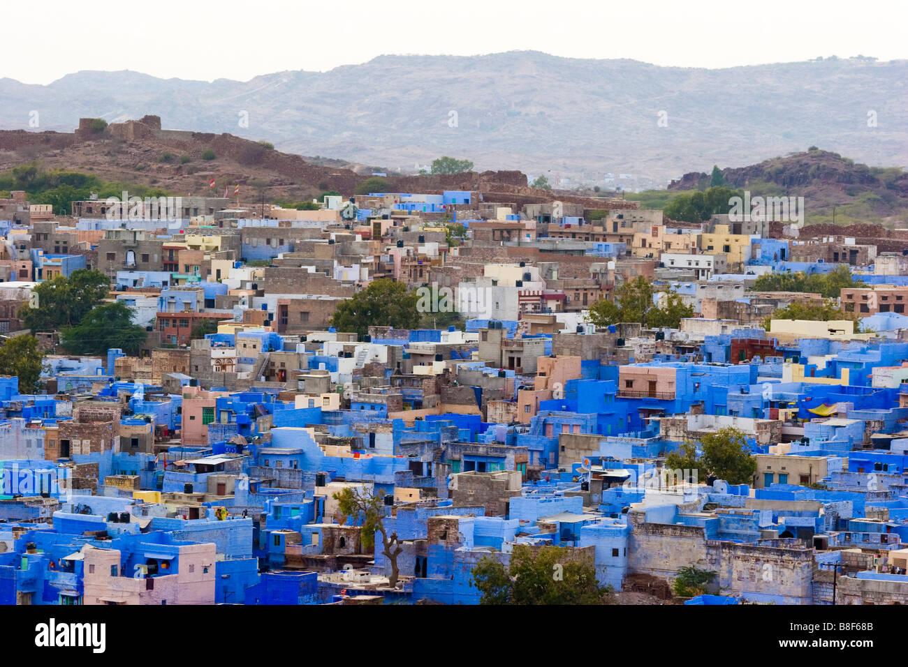 Vista città Jodhpur Rajasthan in India Immagini Stock