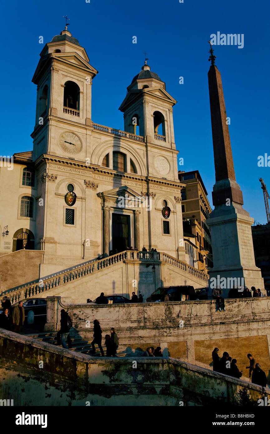 Piazza di Spagna Roma Piazza di Spagna e Trinità dei Monti Immagini Stock
