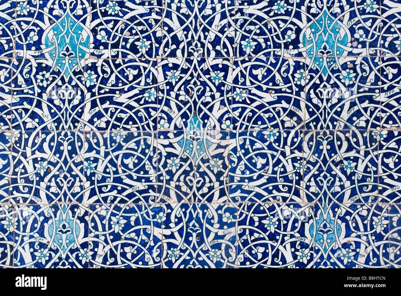 Sfondo piastrelle decorazioni orientali da Uzbekistan Immagini Stock