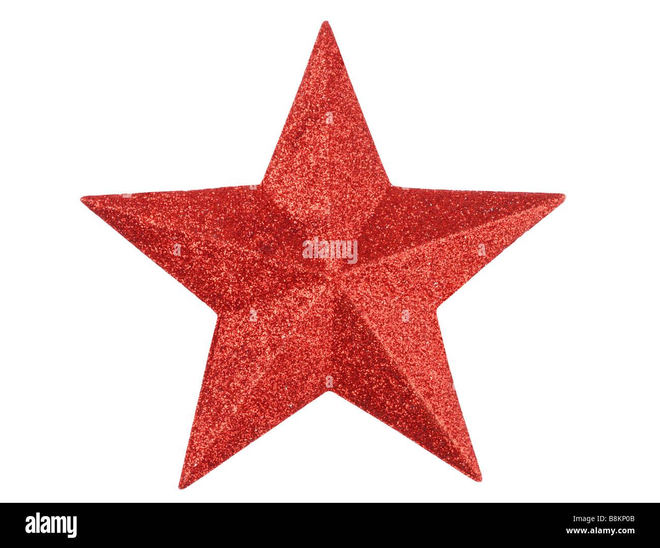 Stella rossa Immagini Stock
