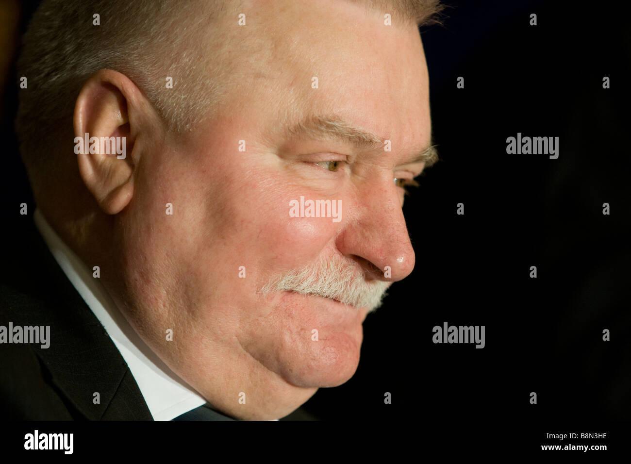 Lech Walesa, ex presidente della Repubblica di Polonia e Presidente del commercio di solidarietà europea. Immagini Stock