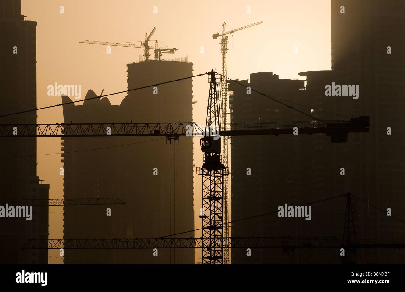 Dubai in costruzione, Emirati arabi uniti Immagini Stock
