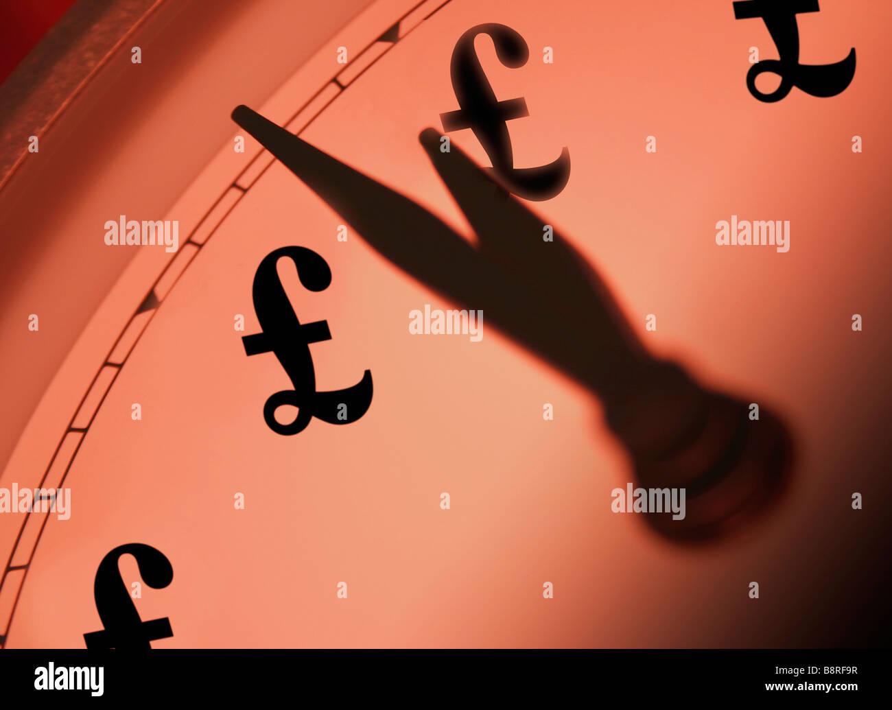 Il tempo e il concetto di denaro Immagini Stock
