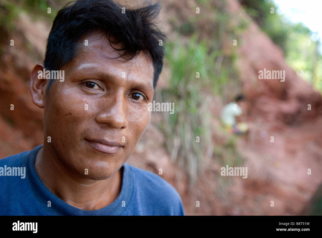 Rifugiato da un villaggio di Darien Immagini Stock