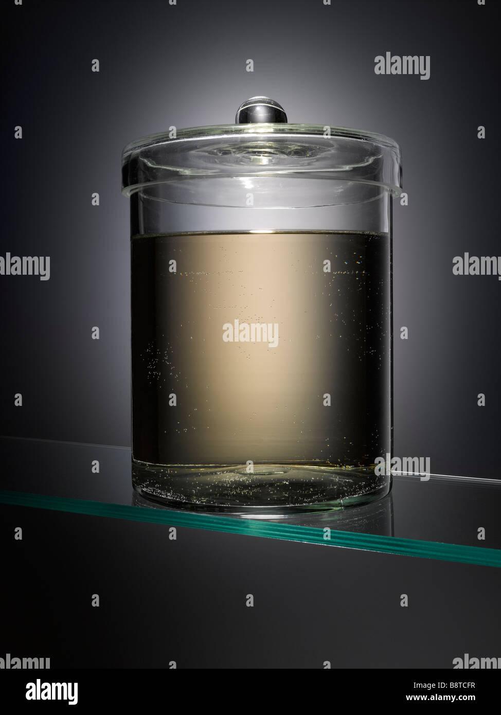 Un campione di vuoto jar Foto Stock