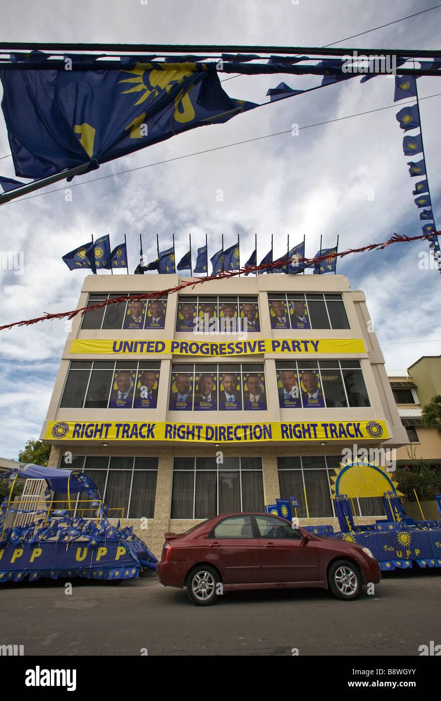 United Progressive Party (UPP) Sede di San Johns, Antigua Immagini Stock