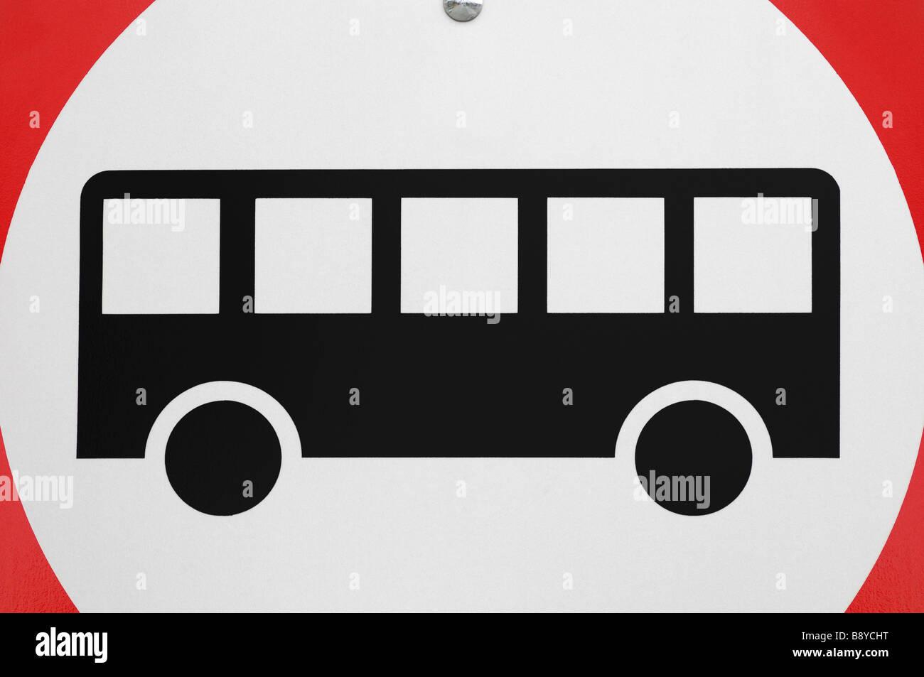 Autobus solo cartello stradale Immagini Stock