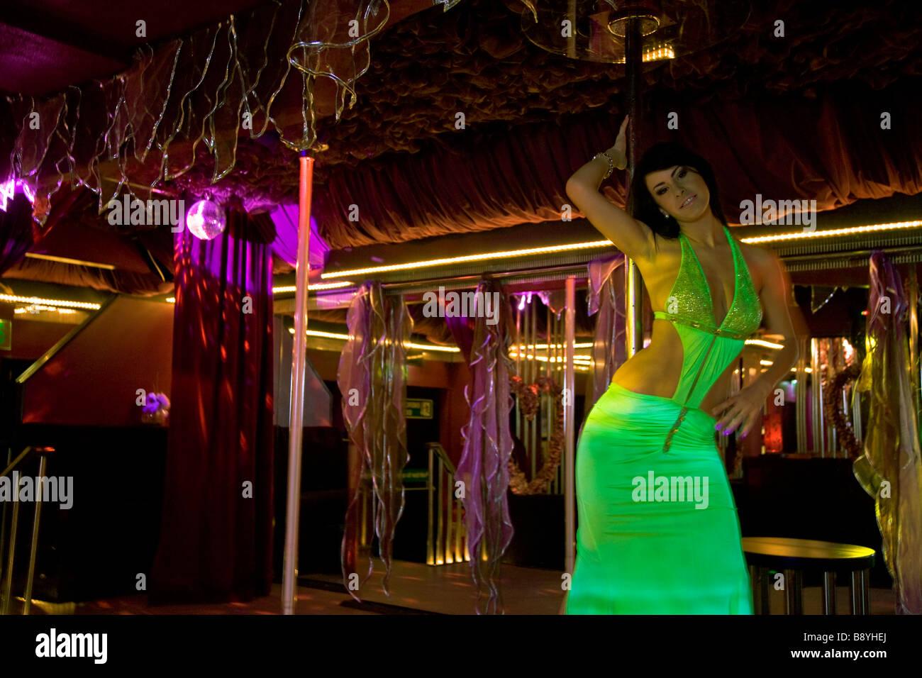 """'Lap dancer"""" """"pole dancer' 'strip club' stripper Immagini Stock"""