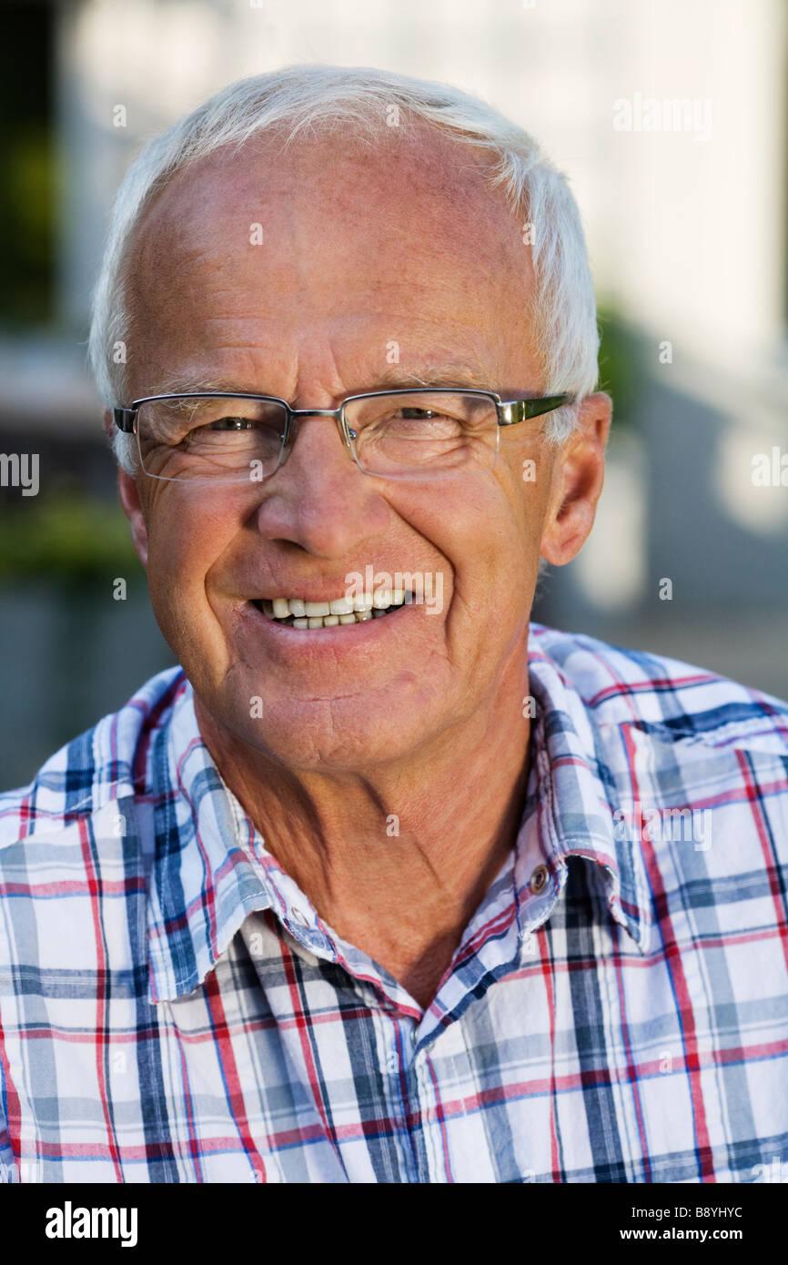 Ritratto di un uomo anziano in Svezia. Immagini Stock