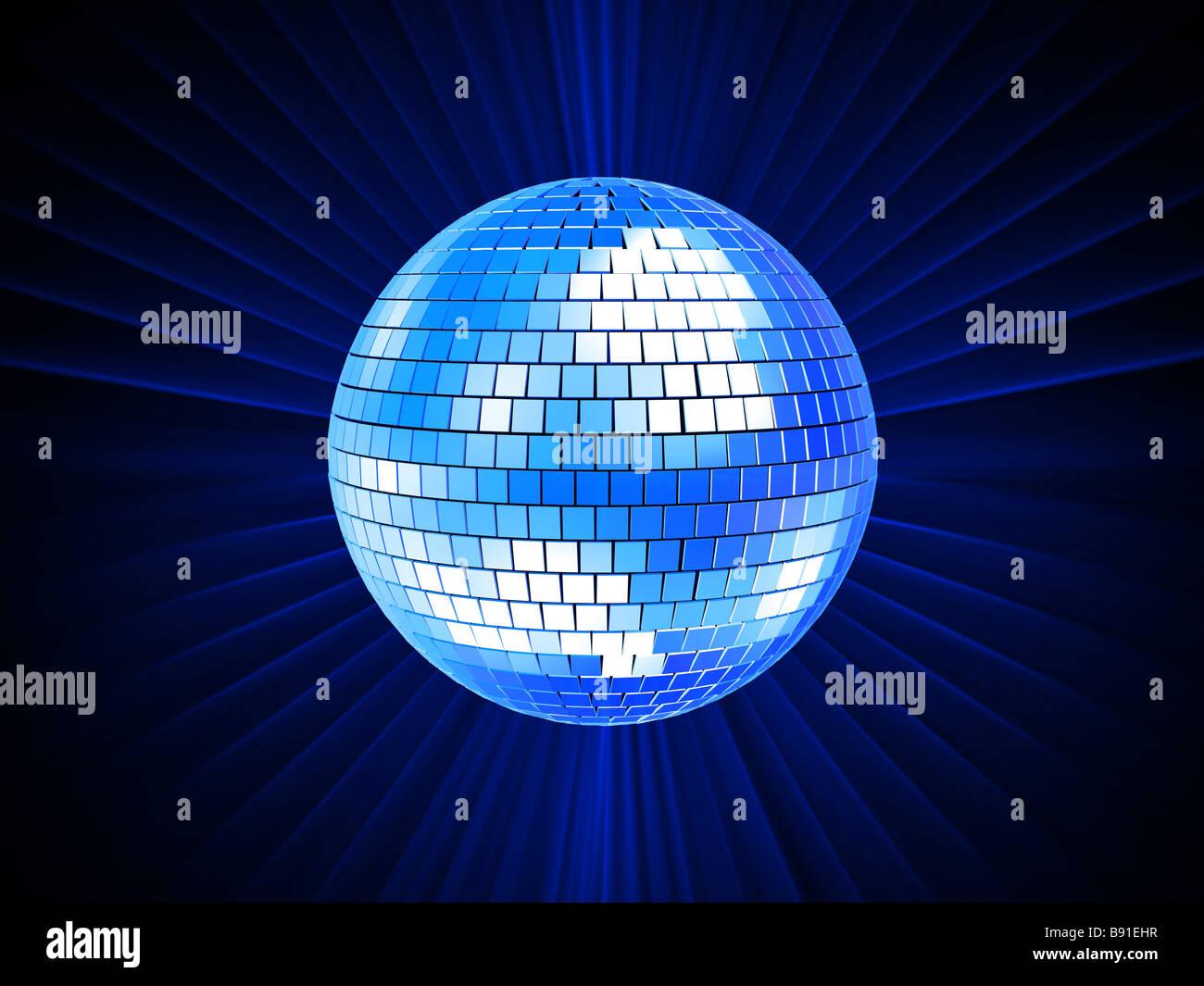 Blu sfera discoteca Immagini Stock