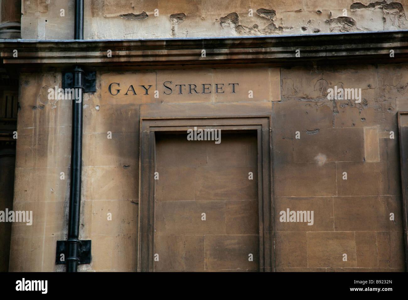 Vasca Da Bagno Karen : Gay street strada segno sulla vasca da bagno muro di pietra bagno