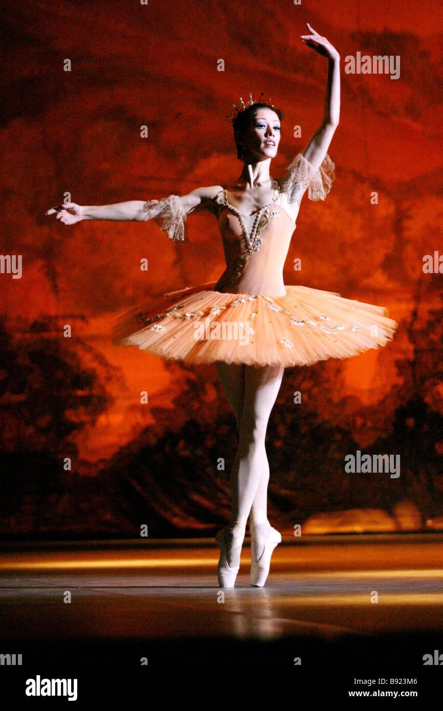 Premiere della nuova versione del balletto La bella addormentata di Peter Tchaikovsky prodotta dal membro accademico Immagini Stock