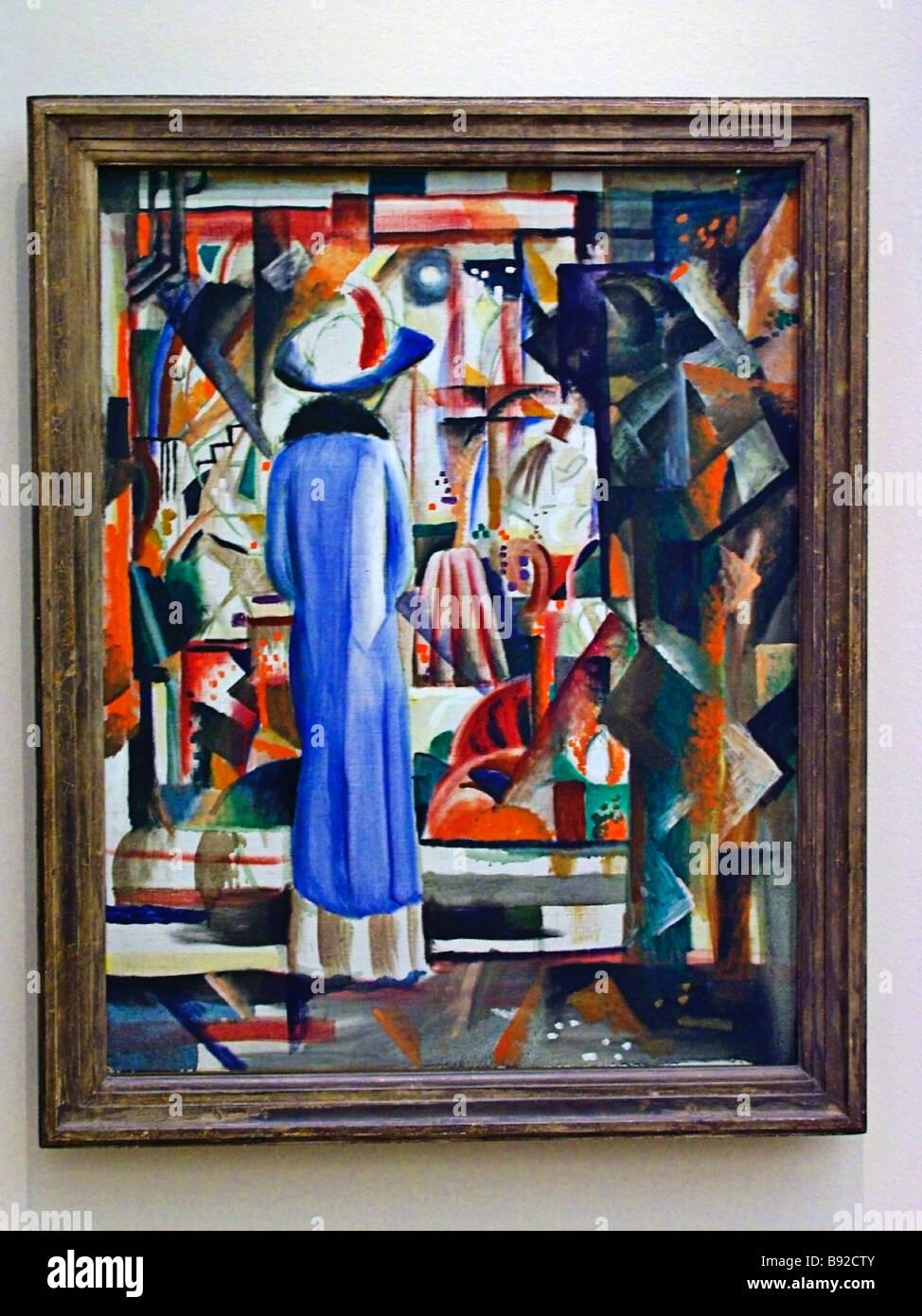 Un grande e luminoso negozio finestra 1912 da August Macke 1887 1914 la mostra Cubisme Cubismo Kubismus una artistica Immagini Stock
