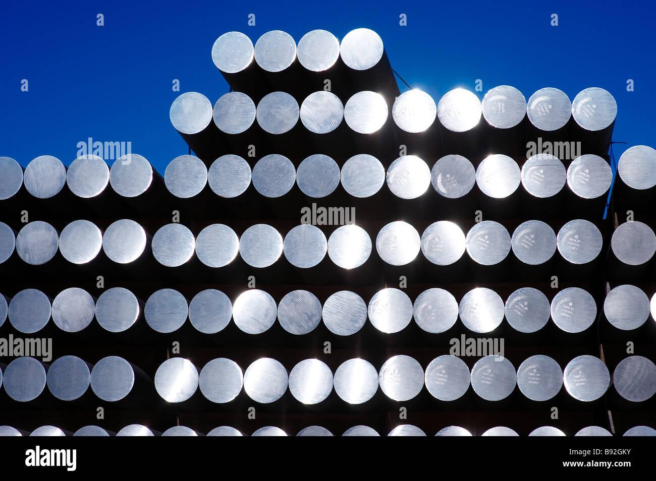 Aste in alluminio Immagini Stock