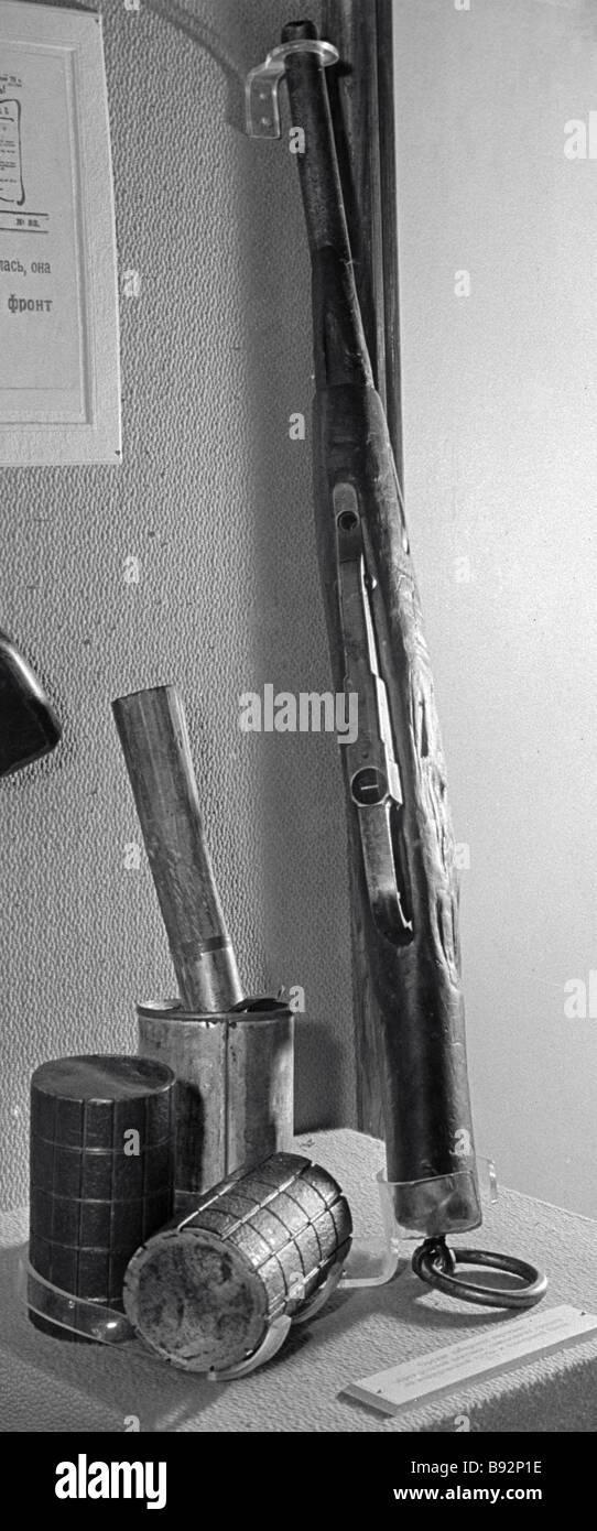 Questi fatti in casa sono state utilizzate armi durante il 1917 1922 Guerra Civile Russa Immagini Stock