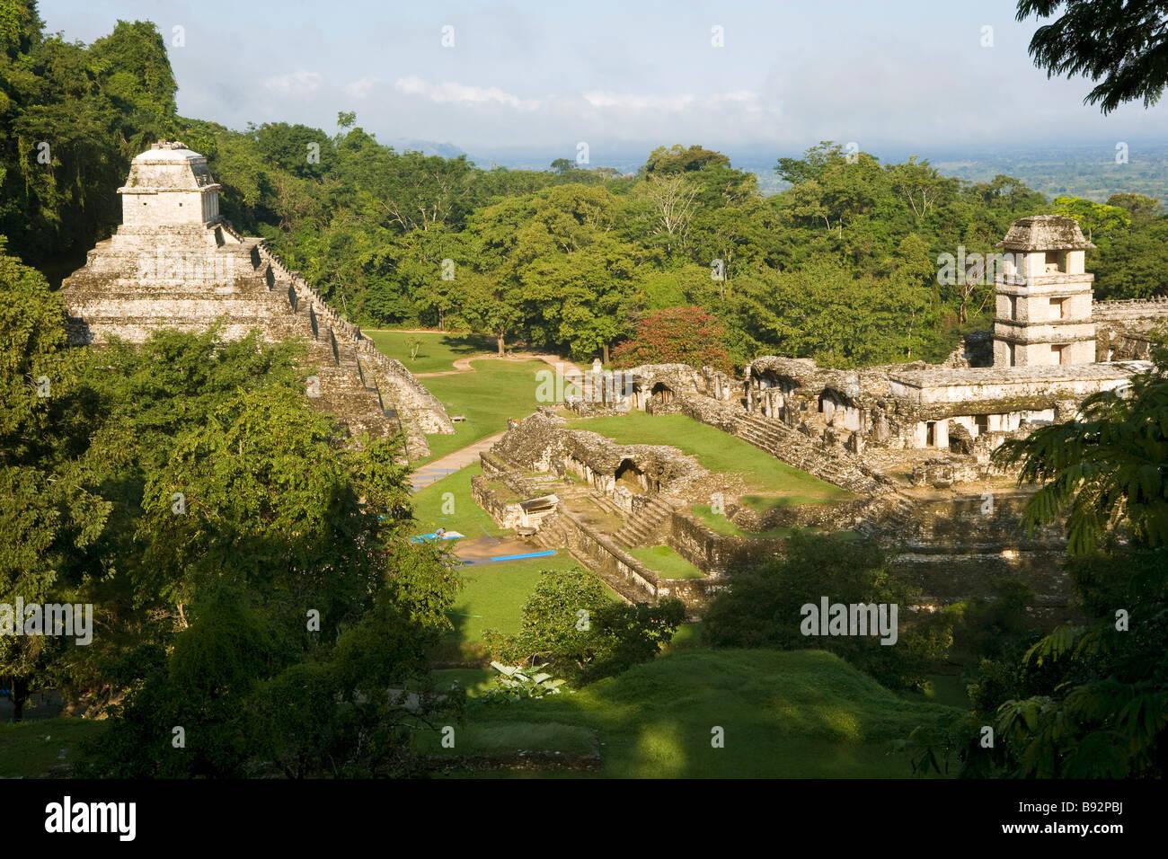 Palenque antico sito Immagini Stock