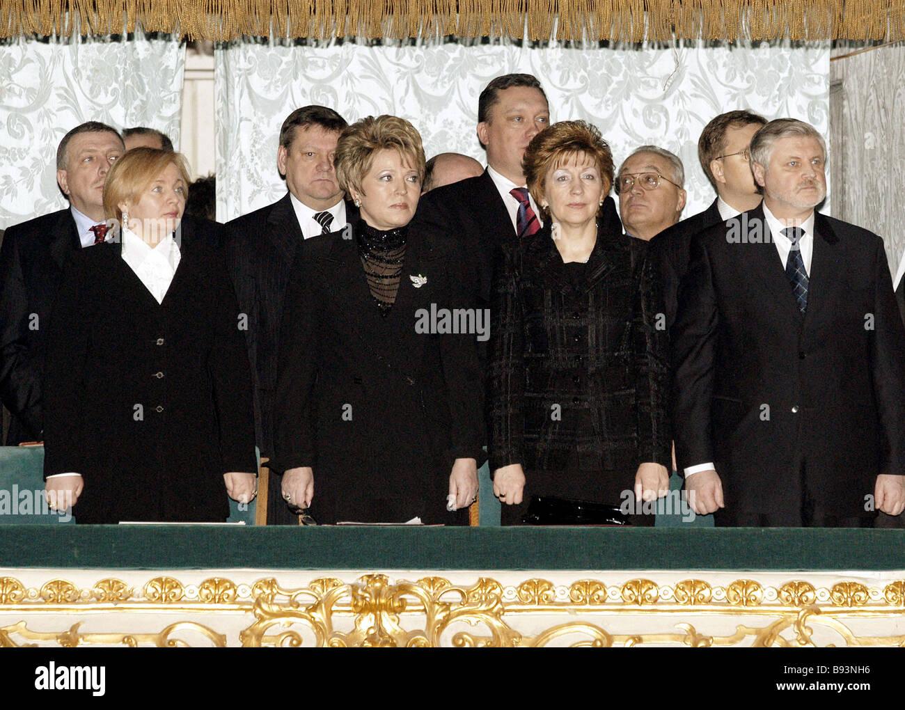 In pew del teatro Mariinsky da sinistra a destra prima fila