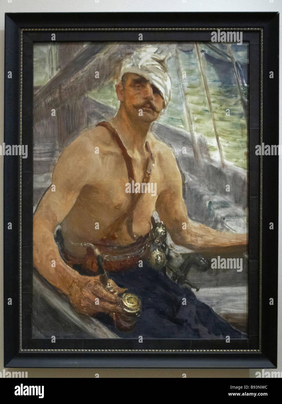 Il kazako 1910 da Ilya Repin è parte della mostra il tempo di raccogliere l'arte russa da collezioni private Immagini Stock