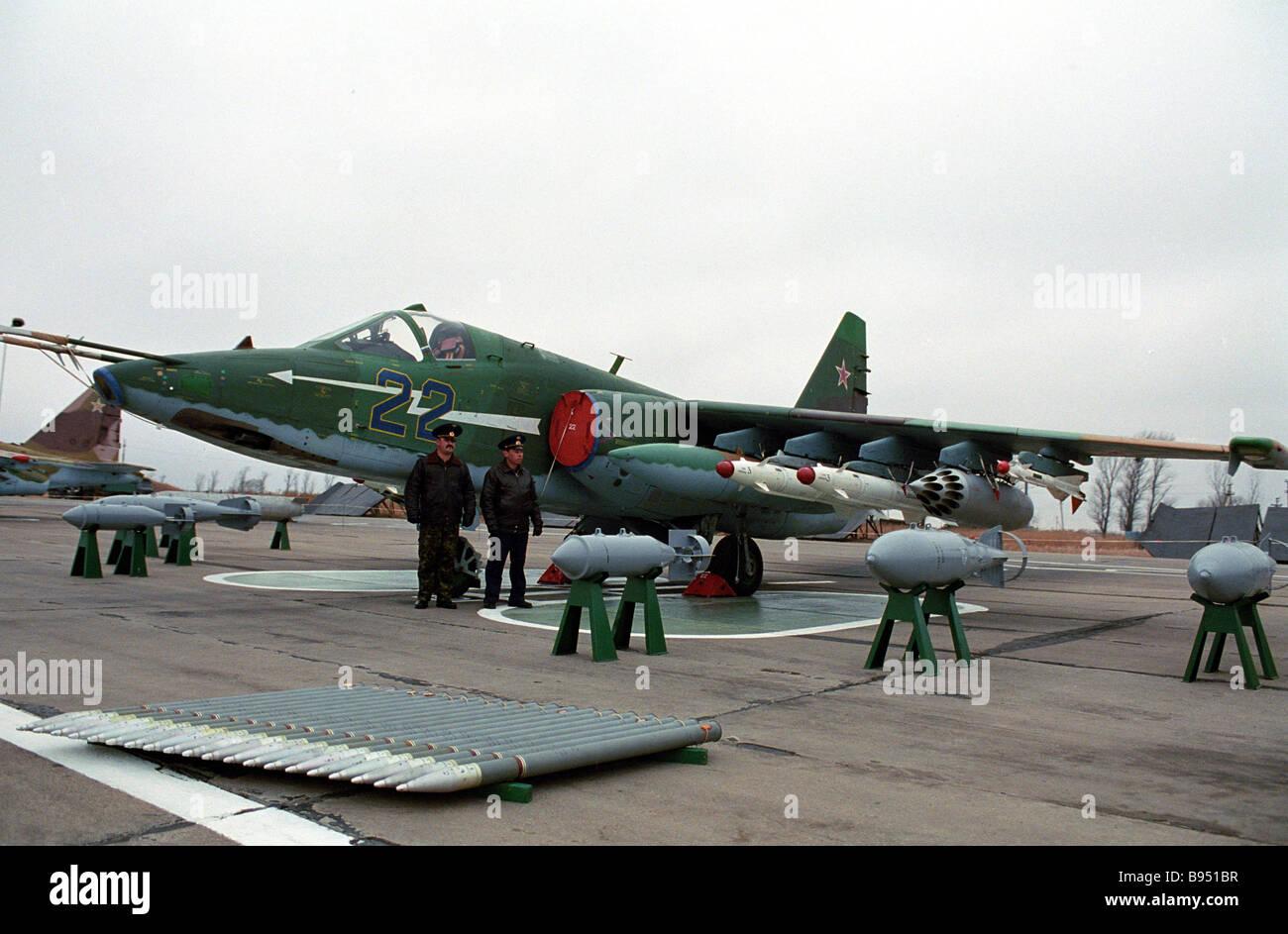 SU 25 BM terra assalto aereo Immagini Stock