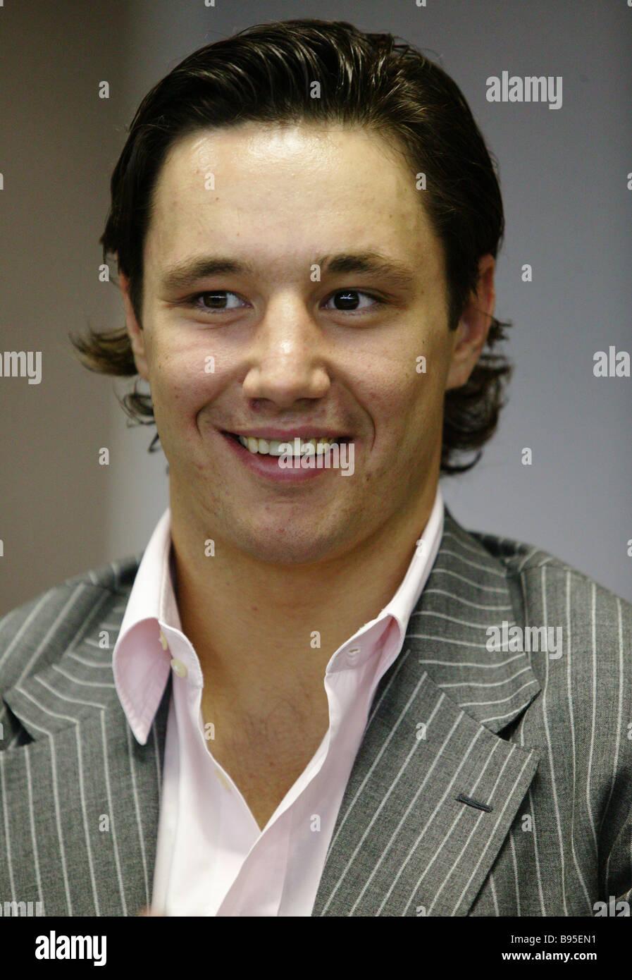 NHL Hockey player Ilya Kovalchuk Immagini Stock