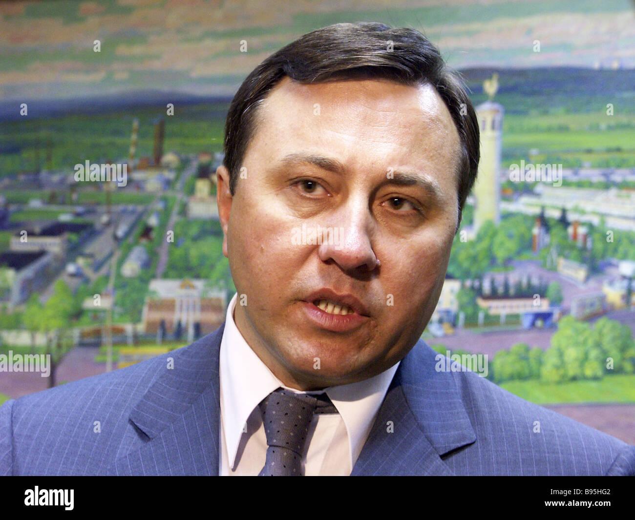 Nikolai Shuba capo Ispettore federale per la regione di Mosca Immagini Stock