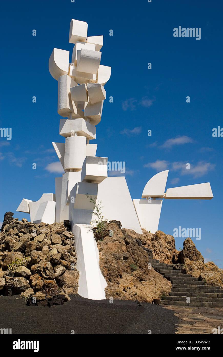 Spagna Isole Canarie Lanzarote, Monumento a La Campesino, il Monumento al contadino. Immagini Stock