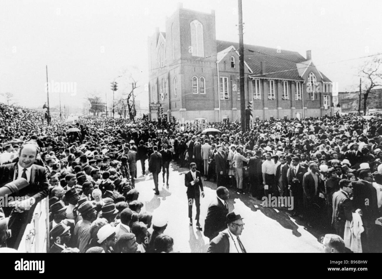I funerali di Martin Luther King leader del movimento dei diritti civili che è stato ucciso da razzisti Atlanta Foto Stock