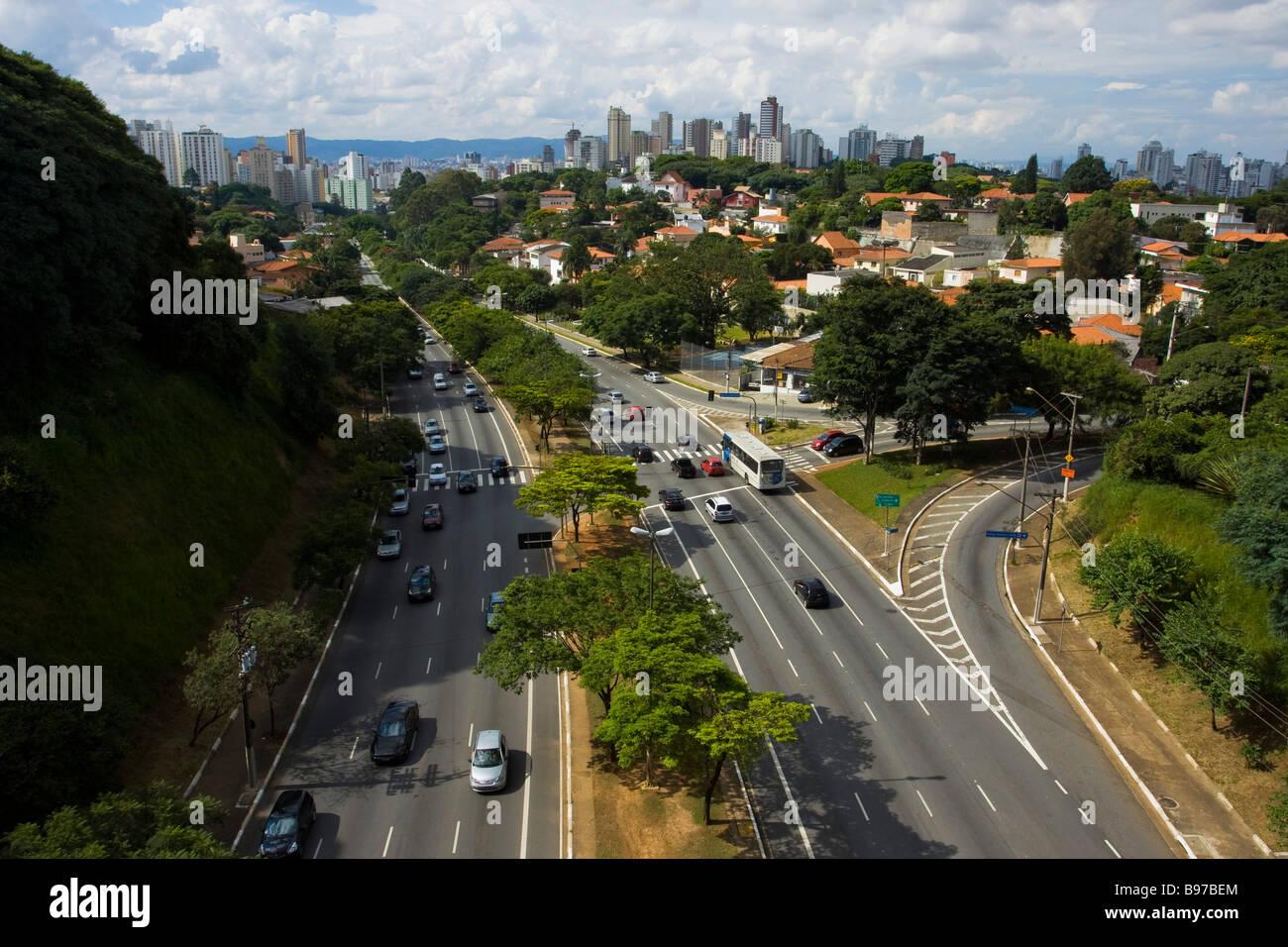 Città di São Paulo Immagini Stock