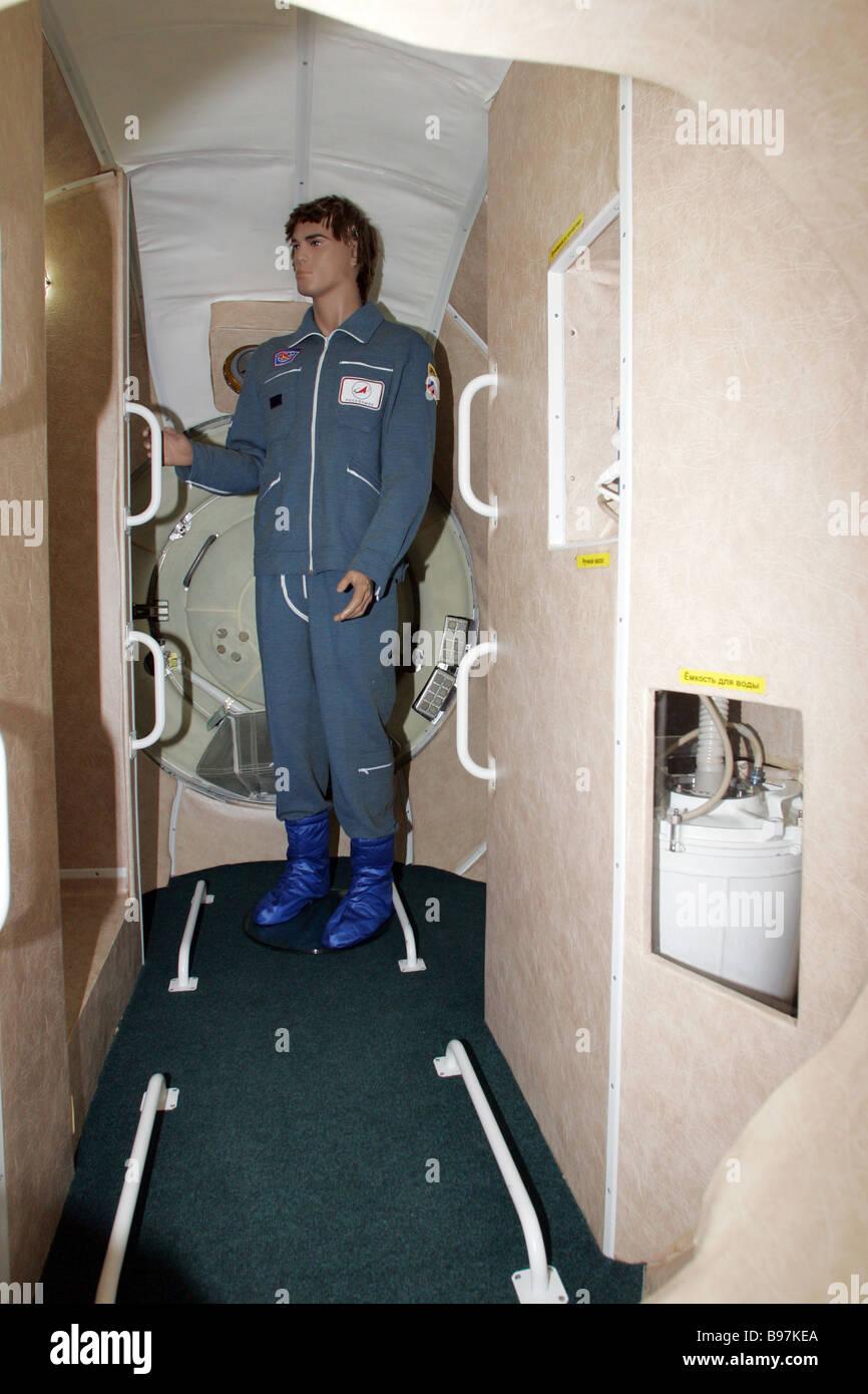 L'abitazione modulo del veicolo spaziale Kliper all'Korolev Rocket Space Corporation Energia Immagini Stock