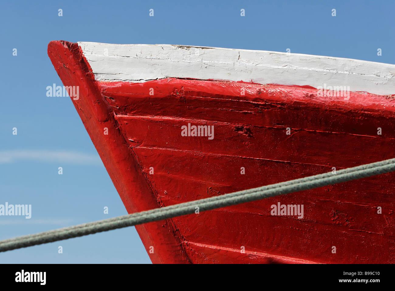 Prua della barca, extreme close-up Immagini Stock