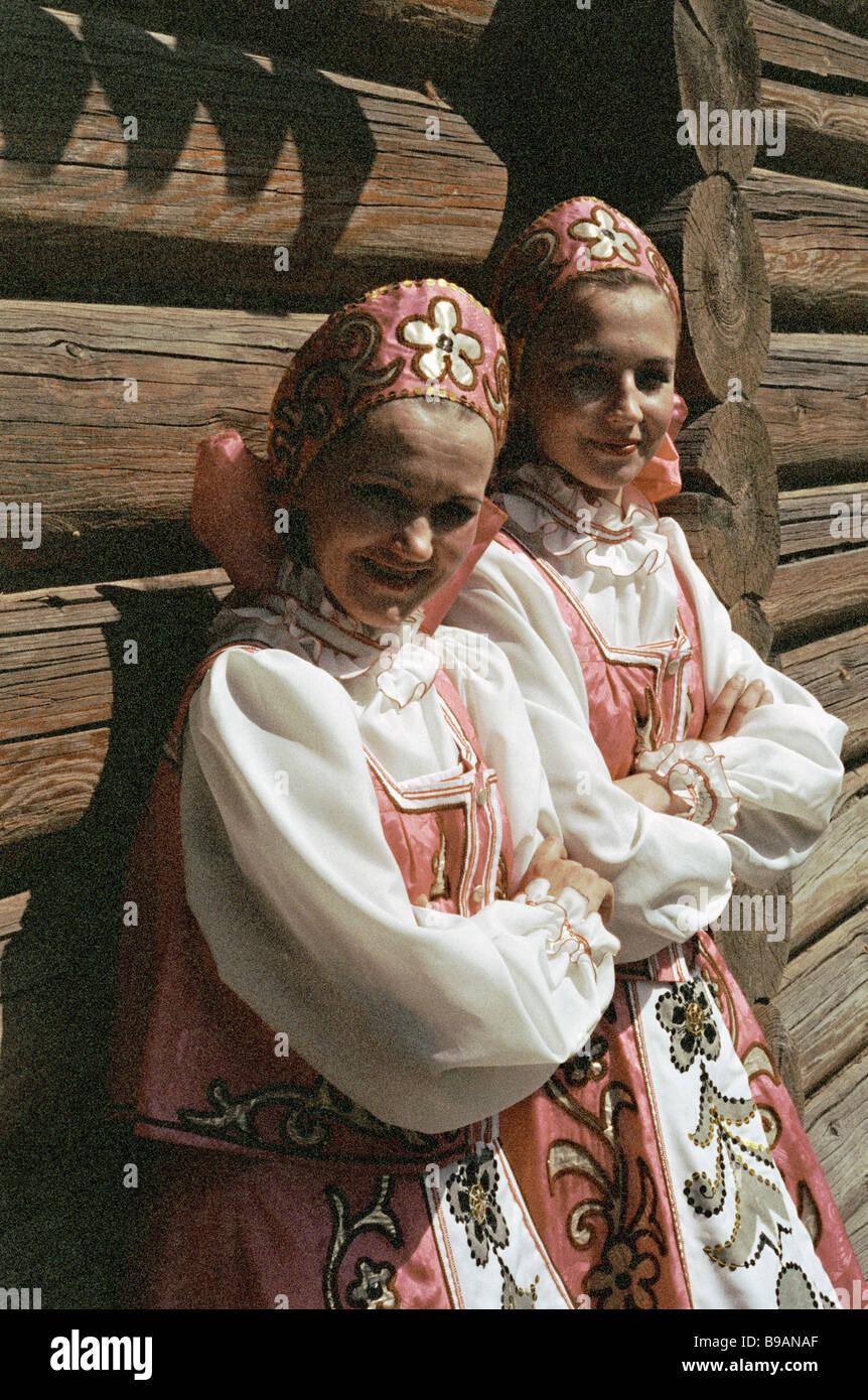 Folklore vacanze in Staraya Ladoga Immagini Stock