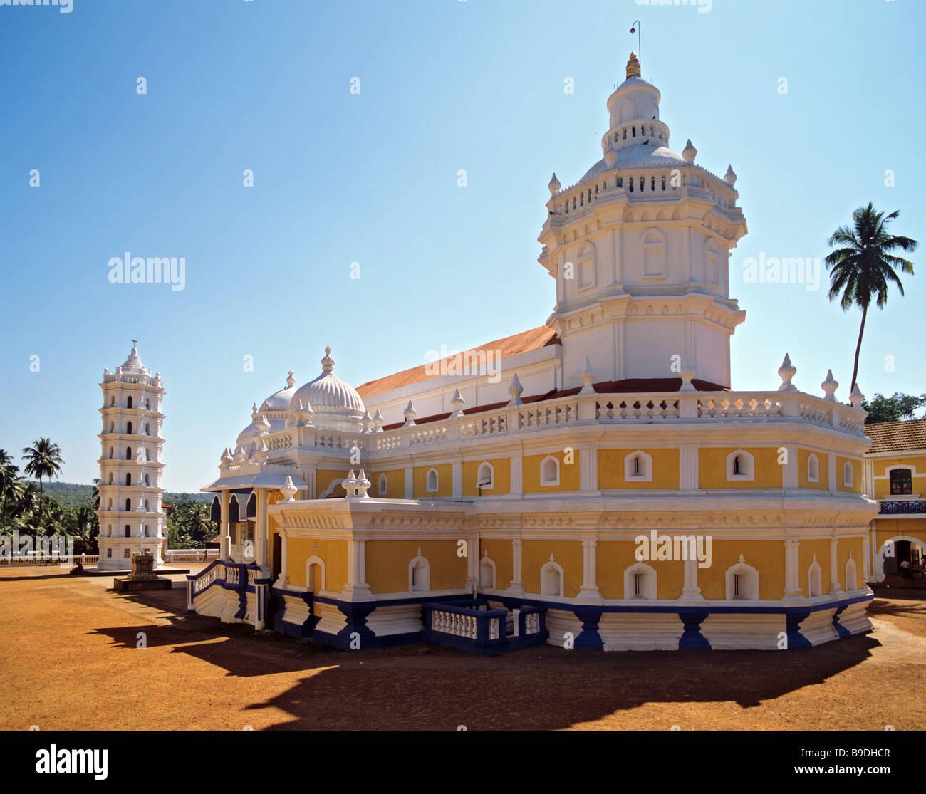 Shri Mangueshi Tempio pagoda, Goa, India Immagini Stock