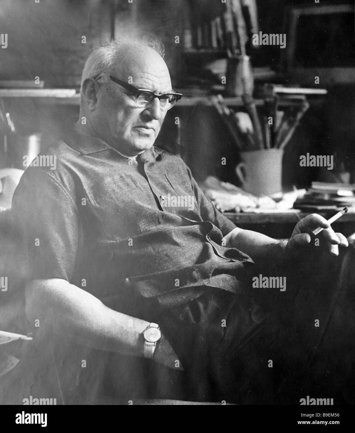 Pittore russo maestro di illustrazioni per libri Yevgeny Kibrik 1906 1978 Immagini Stock