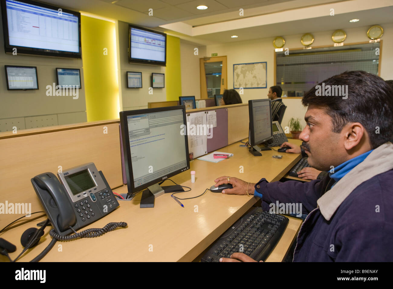 India Delhi Vcustomer azienda Automated call center Immagini Stock