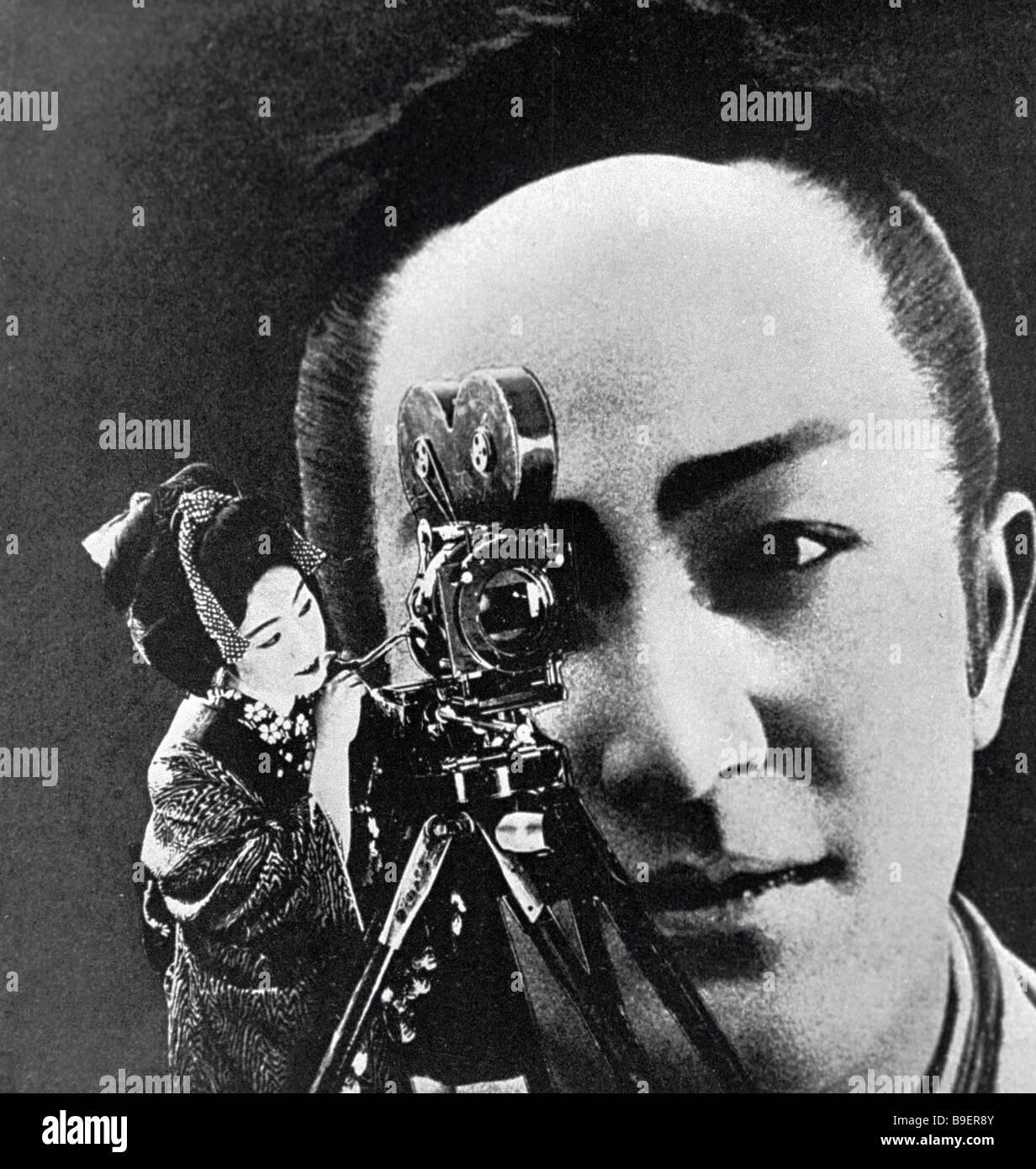 Una riproduzione del coperchio anteriore del catalogo per il cinema giapponese a Mosca 1929 mostra di Lazar Lisitsky Immagini Stock