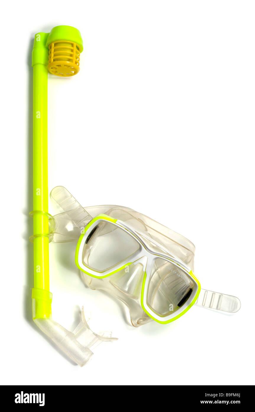 Fare snorkel e maschera Immagini Stock