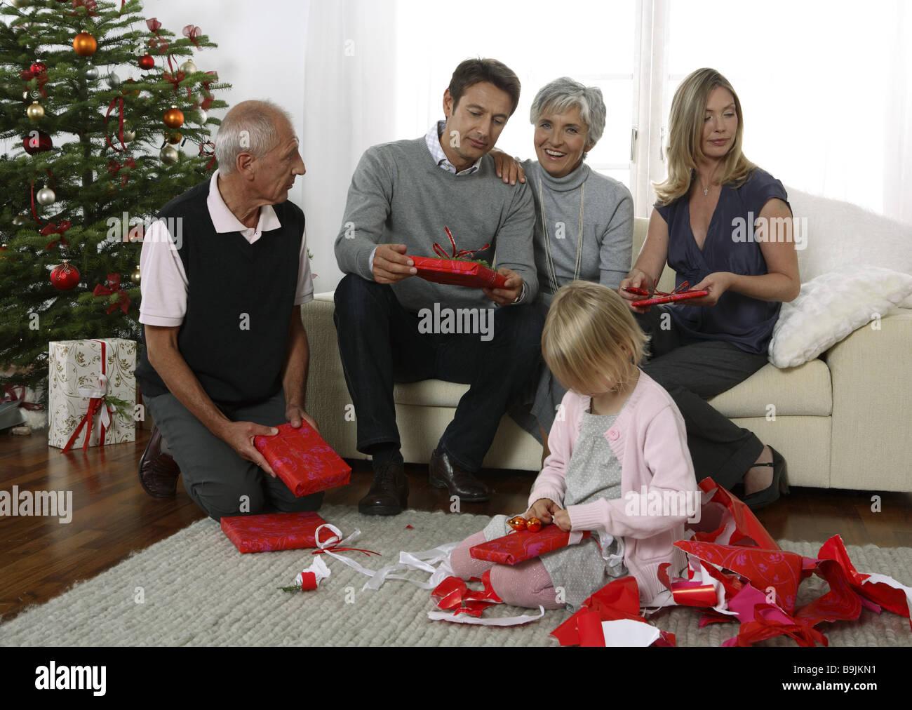 Foto Di Natale Anni 60.Natale In Famiglia Regali Di Natale Il Disimballaggio Tree Soggiorno
