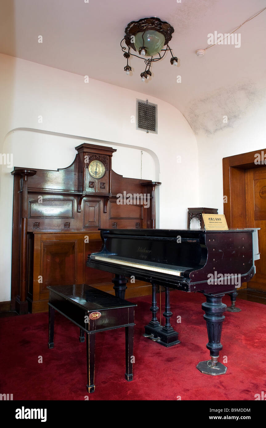 Cina, provincia di Shandong, Qingdao, Ying Binguan pavilion, ex casa del governatore tedesco Immagini Stock