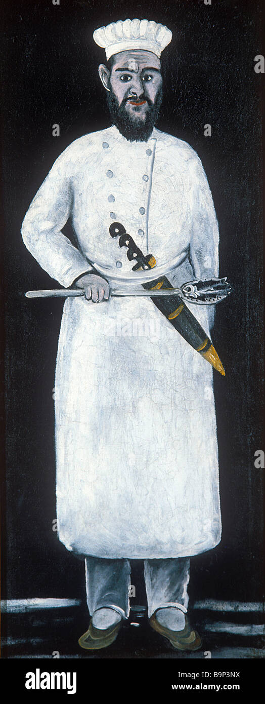 Niko Pirosmanishvili Cook panno di olio la pittura ad olio 1905 Immagini Stock