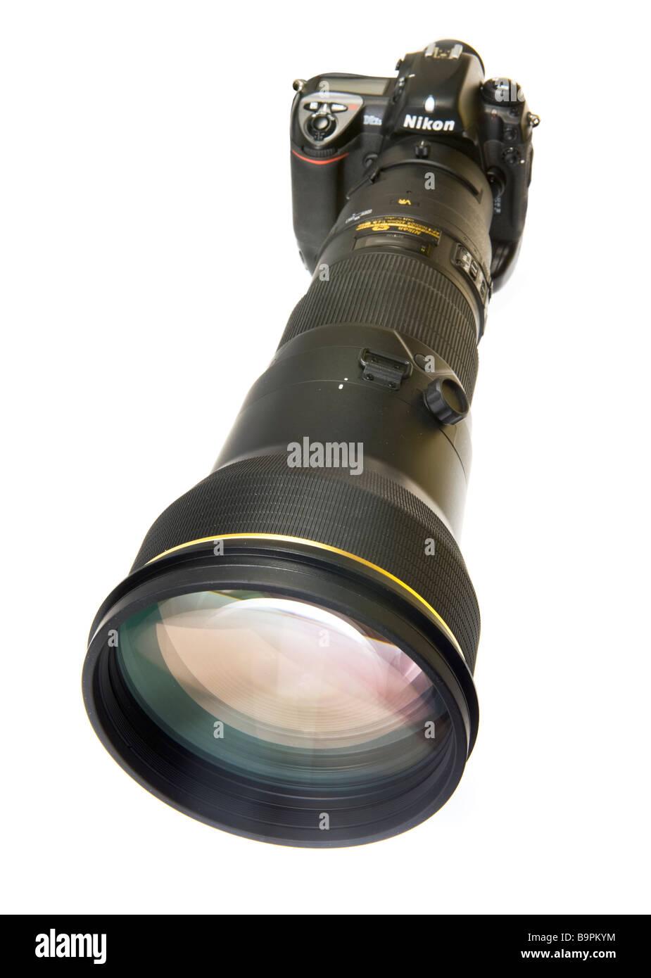 Teleobiettivo telelense tele lente 600 mm AF-S VR II Nikon professionali esperti professionell professionalmente Immagini Stock