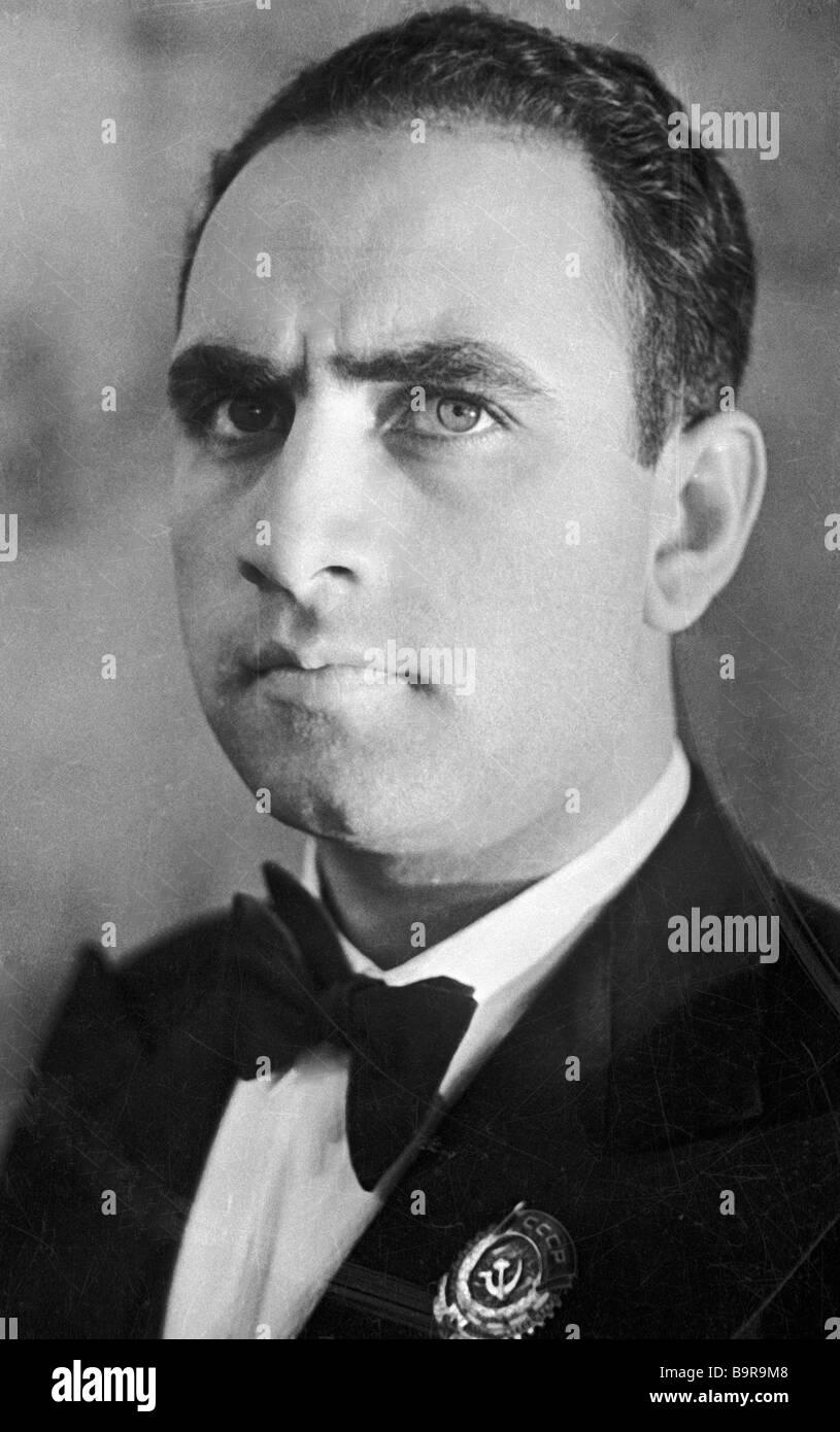 Onorevole artista di Armenia cantante Pavel Lisitsian Immagini Stock