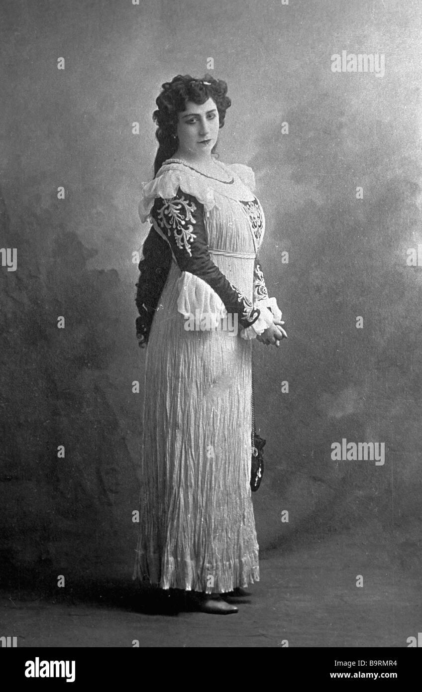 Il Cantantessa Antonina Nezhdanova Cantare La Parte Di Gilda In