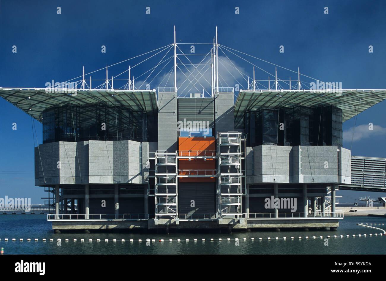 Il Pavillion degli oceani, il più grande acquario d'Europa, dall'architetto americano Peter Chermayeff, Expo, Lisbona, Foto Stock