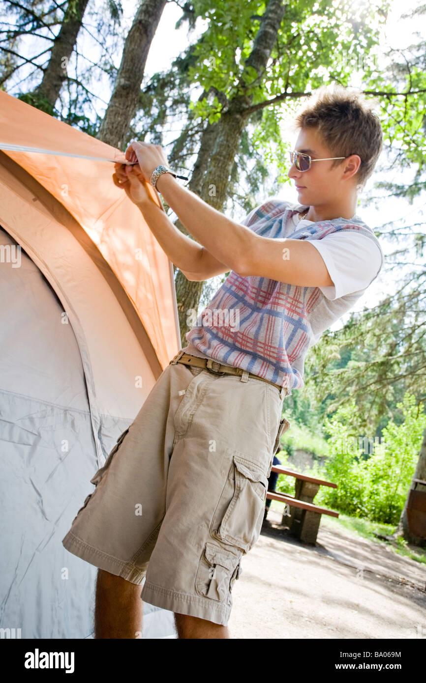 Impostazione di tenda Immagini Stock