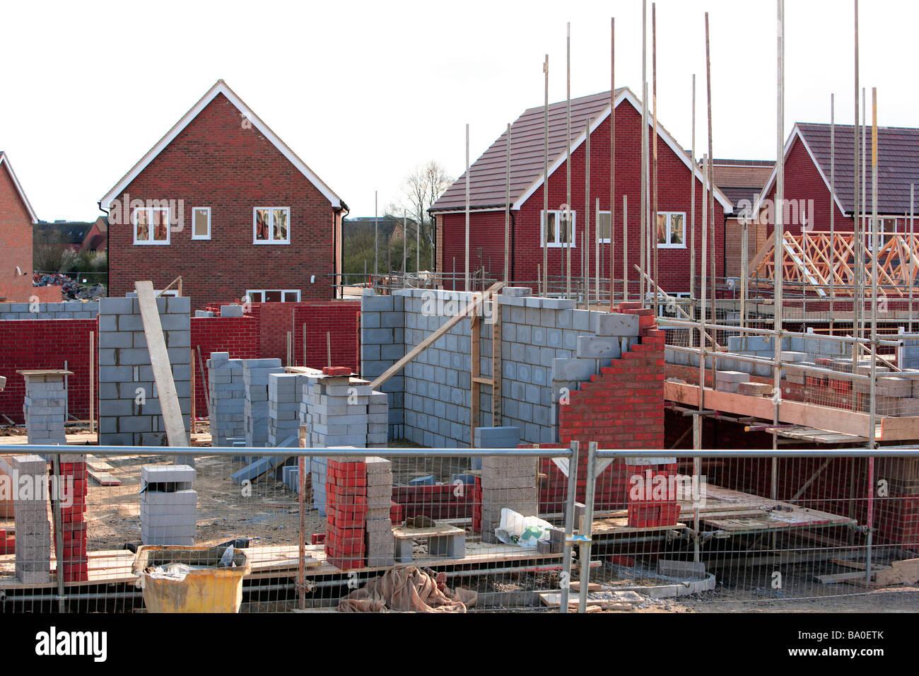 La costruzione di nuovi alloggi REGNO UNITO Immagini Stock