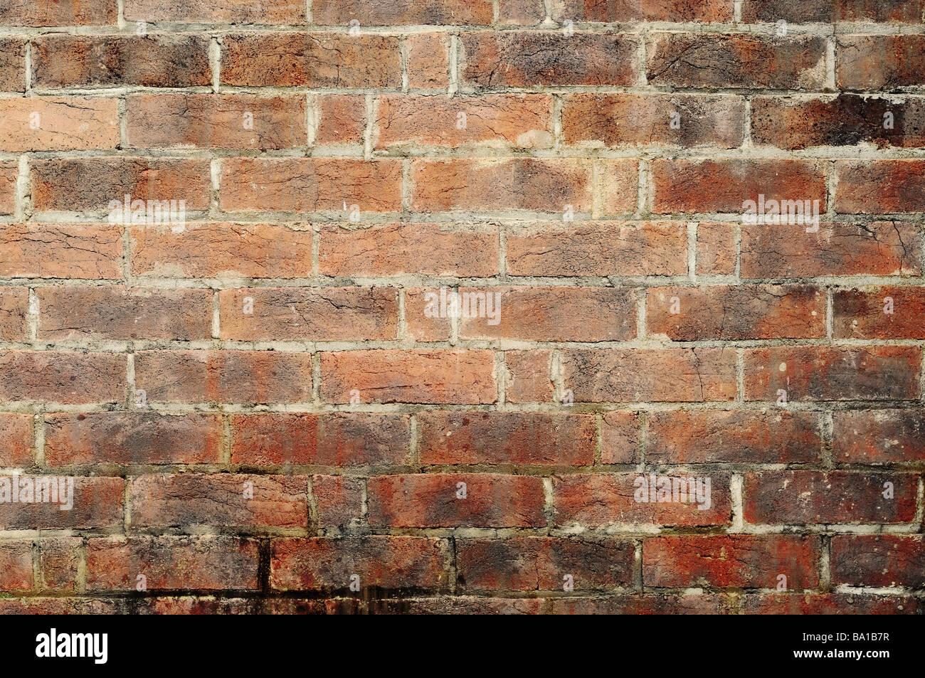 Grande immagine di un vecchio e grungy muro di mattoni Immagini Stock