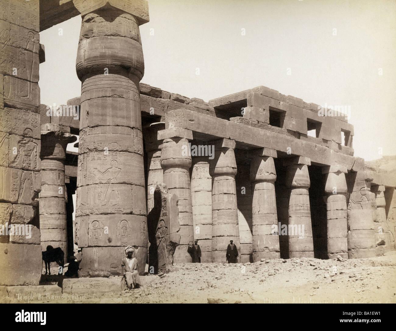 Geografia / viaggi, Egitto, Tebe West Bank, Ramesseum, tempio di Ramseses II (circa 1290 - 1224 BC, XIX dinastia), Immagini Stock