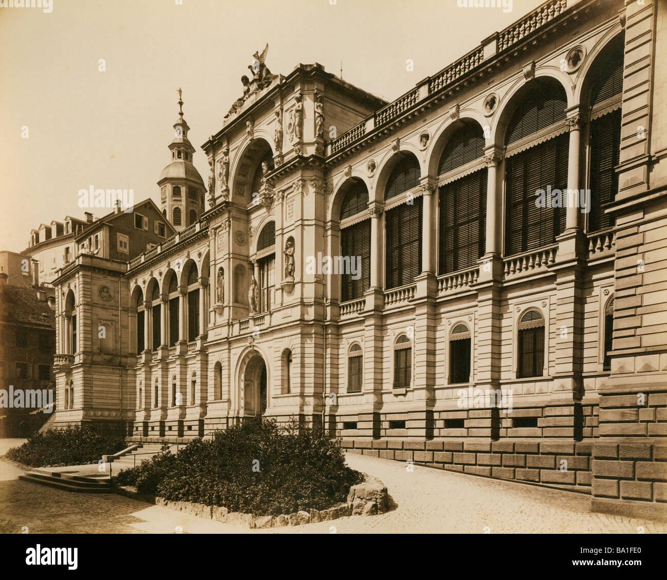 Geografia / viaggi, Germania, Baden-Baden, edificio, Friedrichsbad, vista esterna, costruito da Karl Dernfeld da Immagini Stock